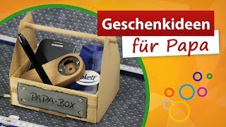Geschenkideen für Papa 💚 Vatertag Bastelidee - trendmarkt24