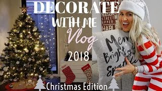 DECORATE WITH ME FOR CHRISTMAS || CHRISTMAS DECOR TIPS 2018 || JESS & TRIBE