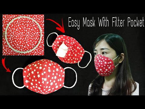 Making A Face Mask At Home | DIY Face Mask No Sewing Machine | Easy Mask With Filter Pocket