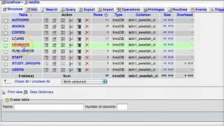 Making a Junction Table in phpMyadmin for MySQL