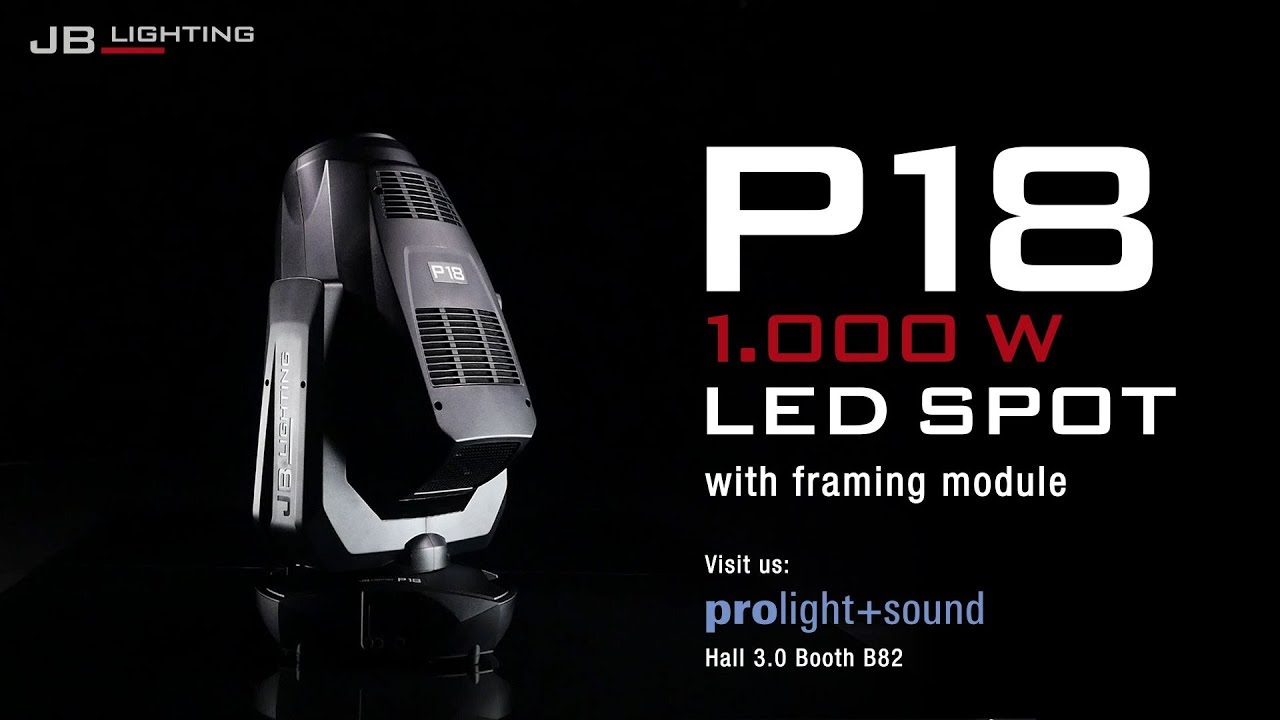 Jb Lighting Varyscan P6 Jb Lighting P18 1000w Led Spot