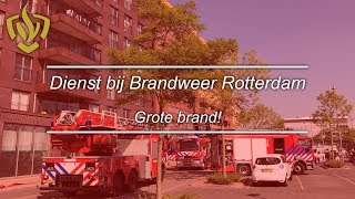 24 uur bij brandweer Rotterdam! Grote brand in een flatgebouw!