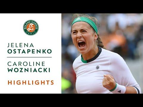 Jelena Ostapenko v Caroline Wozniacki Highlights - Women's Quarterfinals 2017 | Roland-Garros