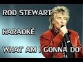 watch he video of KARAOKE -  ROD STEWART - WHAT AM I GONNA DO