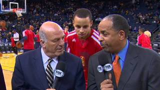 Repeat youtube video Stephen Curry Video Bombs His Father!