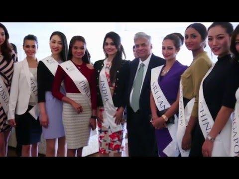 Ms Tourism Sri Lanka International 2016 - Visit to Prime Ministers Office