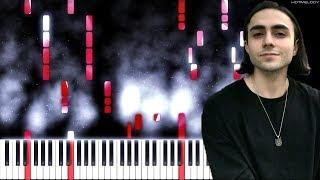 LIZER - Слезы | Как играть на пианино | Cover, Караоке видео