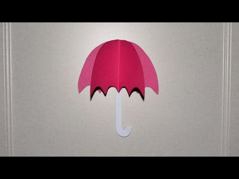 How To Umbrella From Color Paper. - DIY Crafts Tutorial - Guidecentral