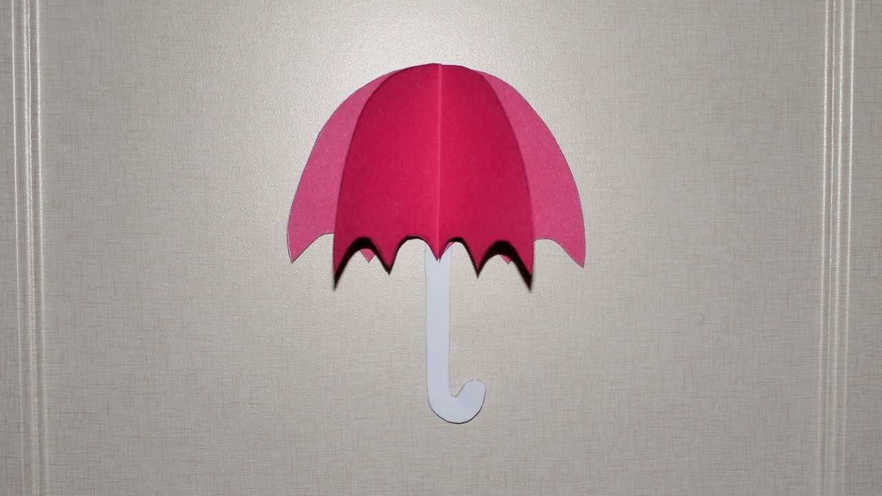 How To Umbrella From Color Paper Diy Crafts Tutorial