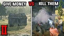John Loans Money to Buy Beecher's Hope (Give Money vs Kill Squatters) - Red Dead Redemption 2