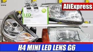 LED LENS of the size of H4 bulbs!!! Test H4 MINI LED LENS