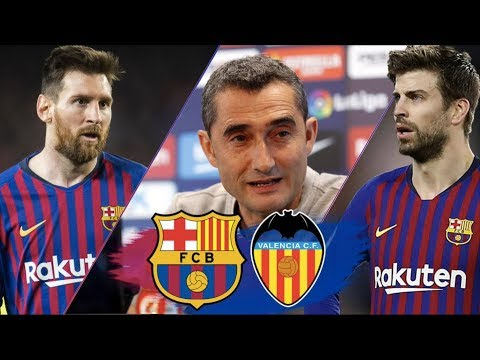 Lionel Messi & Gerard Pique discuss Valverde's future - Barcelona vs Valencia, Copa del Rey Final