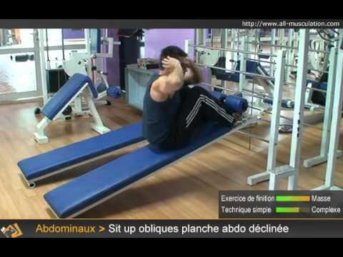 Vidéo Des Sit Ups Obliques Sur Planche à Abdos Déclinée Youtube