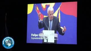 Felipe Gonzalez -Acto de entrega del Premio Francisco de Miranda a Leopoldo Lopez por el IID