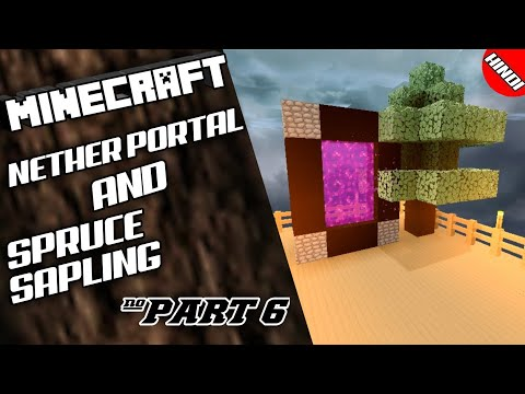 (#SkyBlock)Make Nether Portal And Trade Spruce Sapling||PART 6||MINECRAFT PE (HINDI)  (@GAMINGBLAST)