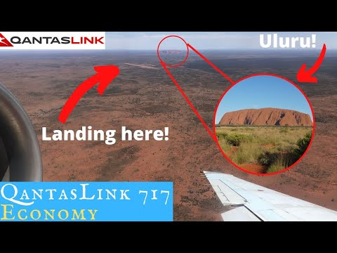 QantasLink 717 Economy To The Outback (Uluru): Are We Flying To Mars?
