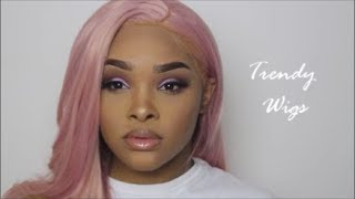 Rose gold makeup + rose gold wig ft. Trendy Wigs - & BH cosmetics brushes UGLYCHRISSZY