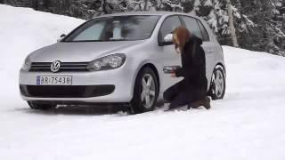 Montaggio calze da neve Autosock