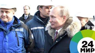 Кот Мостик сопровождал Путина на Крымском мосту - МИР 24
