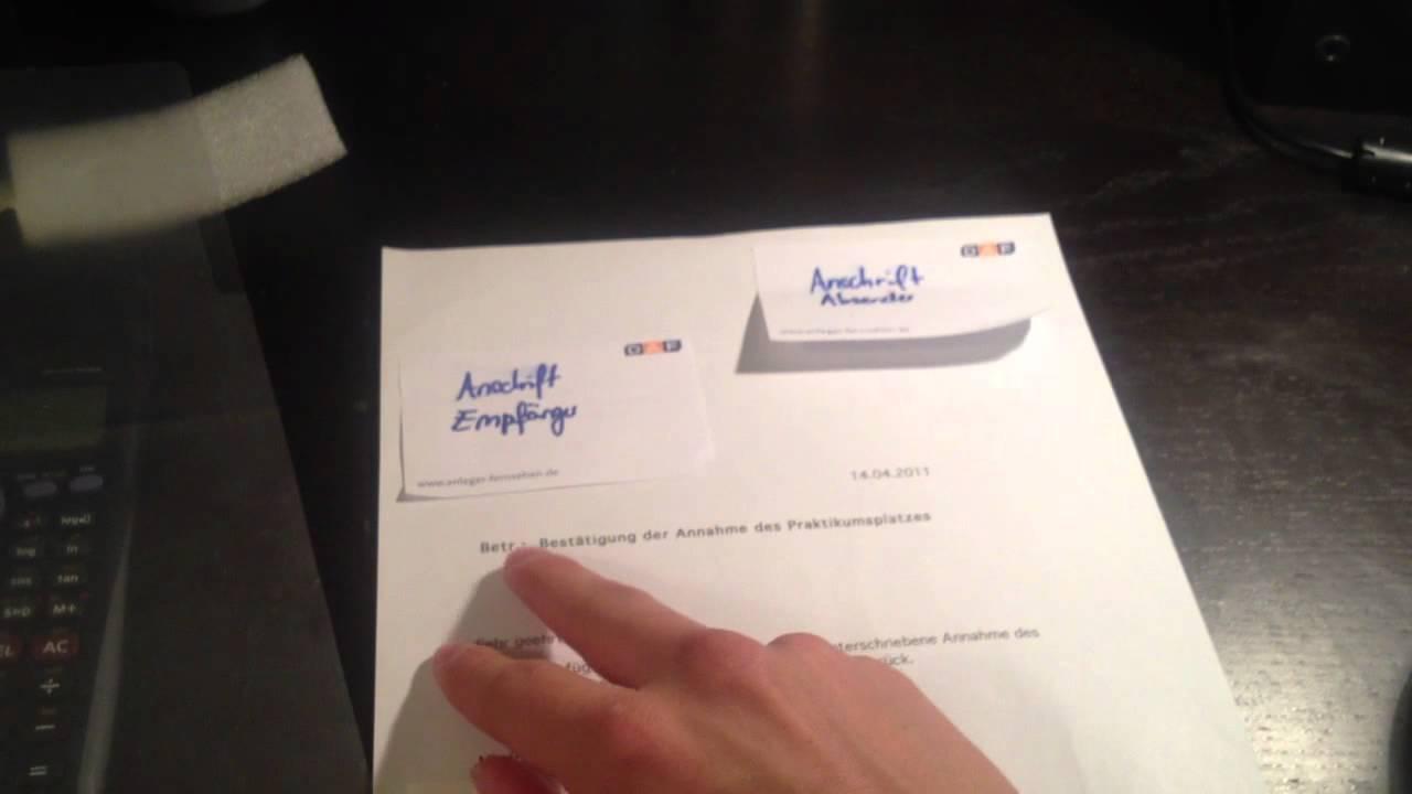Formellen Brief Schreiben Geschäftsbrief Verfassen Youtube