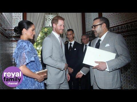 Duke and Duchess of Sussex meet King Mohammed VI