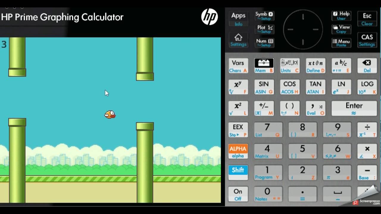Flappy Bird game HP Prime calculator