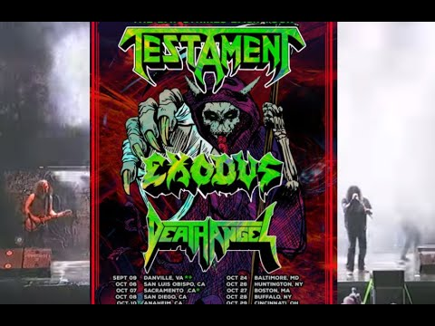 Testament, Exodus and Death Angel - 'The Bay Strikes Back Tour' 2021