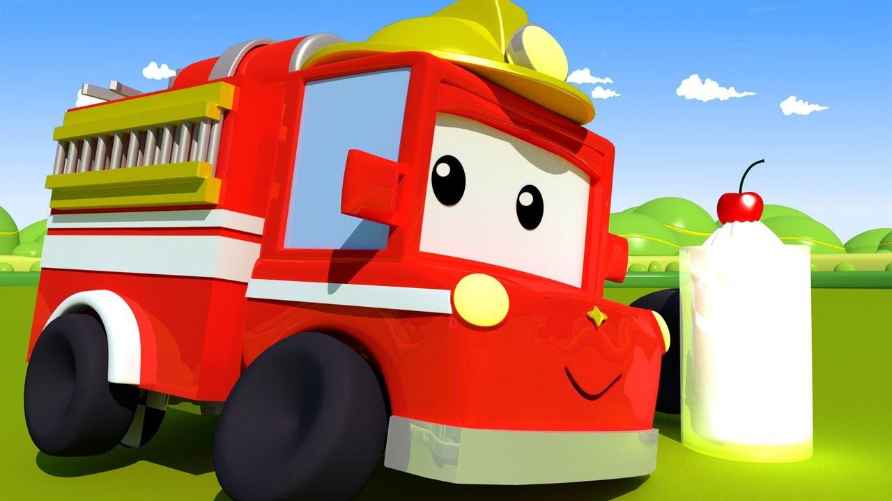 Tiny Town-Nawiedzeni Strażacy- Tiny Town: Uliczne Auta Ambulans Radiowóz Policyjny Wóz Strażacki