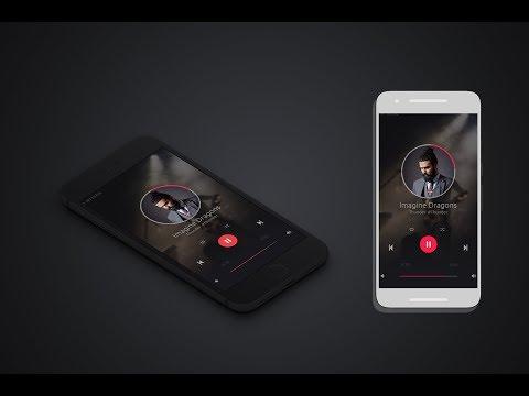 UI Design in photoshop  Ui App design template  Ui Music player Design