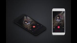 UI Design in photoshop | Ui App design template | Ui Music player Design