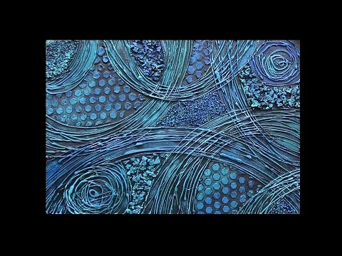 Textured Mixed Media Abstract Art on Canvas Part 2 of 2