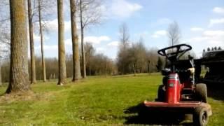 tonte avec tracteur tondeuse snapper rider moteur kohler