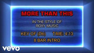 Roxy Music - More Than This (Karaoke)
