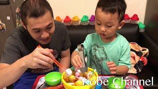 親子遊戲 火煱大樂斗 一齊來吃火鍋吧! 出奇蛋玩具~玩具食物 Family game hot pot toys review with Kinder Surprise Egg Playground