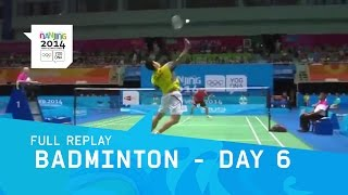 Badminton -  Men/Women Single Mixed Doubles Finals   Full Replay   Nanjing 2013 Youth Olympic Games
