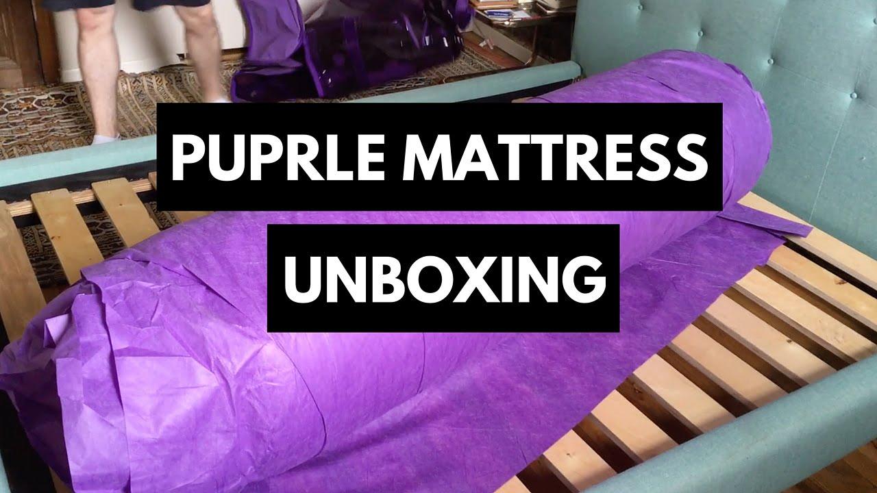 Purple Mattress Unboxing  YouTube