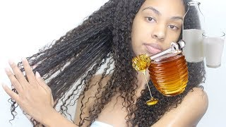 How to GROW HAIR FAST! Honey & Buttermilk Mask DIY for Rapid Hair Growth, Hair Loss, Natural Hair