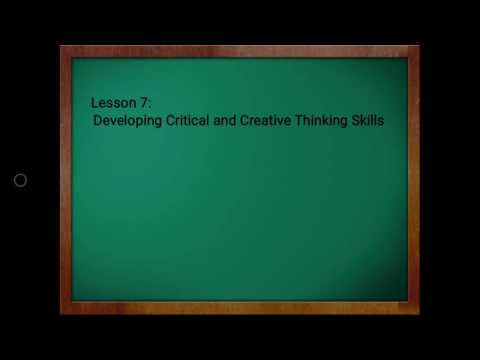 Nature of Critical and Creative Thinking Skills