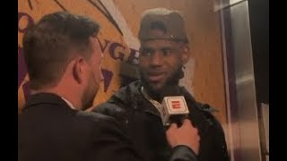 Lebron James Post Game Interview After Passing Michael Jordans Scoring Record