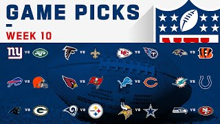 Week 10 Game Picks! | NFL 2019