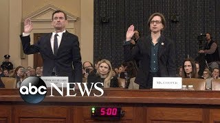 David Hale and Laura Cooper give opening statements in impeachment hearing | ABC News