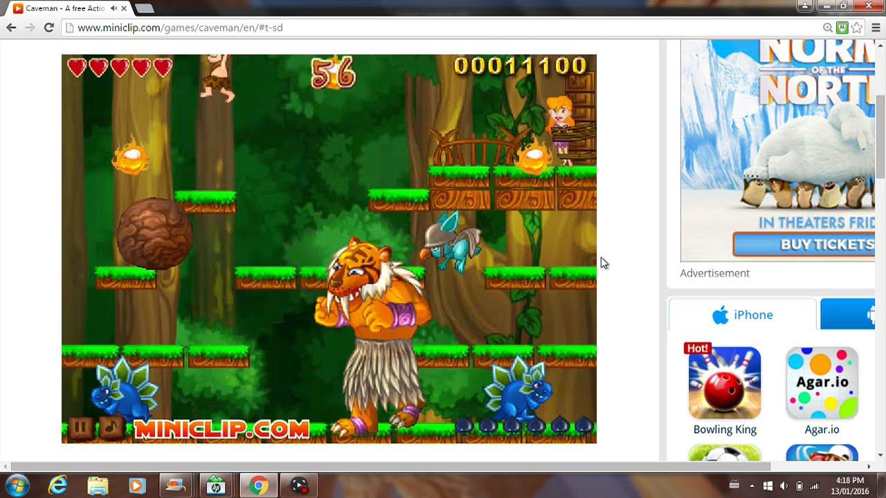 Miniclip Caveman : Lets play caveman part miniclip youtube