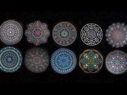 宙を奏でる点描曼荼羅画第2回北海道合同展 調和~シンフォニー