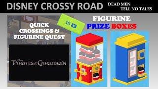 Disney Crossy Road PotC Dead Men Tell No Tales Prize Box Openings, 10 Ticket Figurine, Clips