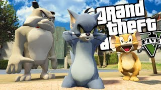 Tom and Jerry MOD w/ SPIKE (GTA 5 PC Mods Gameplay)