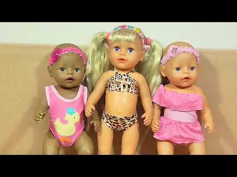 Вся Одежда и Обувь Моих Беби Бонов Примерка одежды  Куклам Пупсикам Беби Бонам
