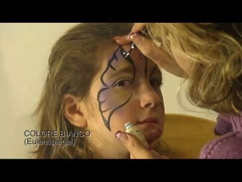 Tutorial per truccabimbi, trucco di una farfalla semplice - simple butterfly makeup for facepainters