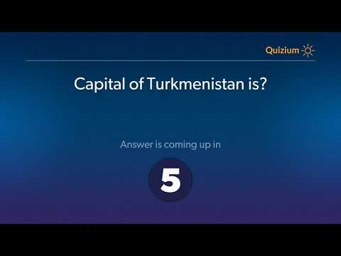 Capital of Turkmenistan is?   Countries and Capitals Quiz