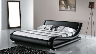 Beliani Leather Water Bed - Super King Size - Full Set - AVIGNON - Eng