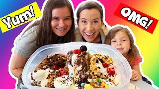 HUGE EVERYTHING SUNDAE CHALLENGE - 51 toppings & 14 Flavors
